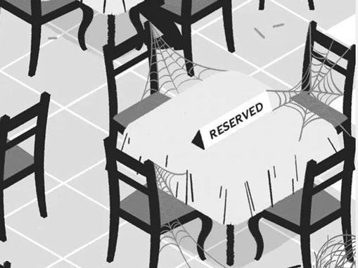 Blockierte , aber nicht belegte Tische im Restaurant